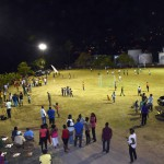 Lights on at Grand Mal Playing Field