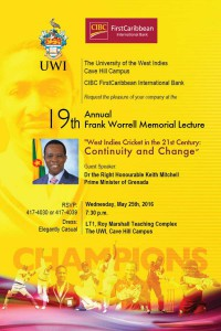 Frank Worrell Memorial Lecture