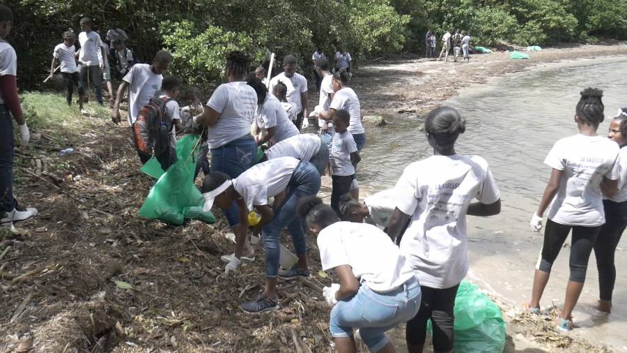 Youth lead environmental cleanup at La Sagesse Beach | NOW Grenada