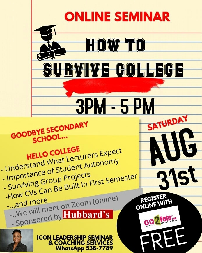 How To Survive College Free Online Seminar Now Grenada